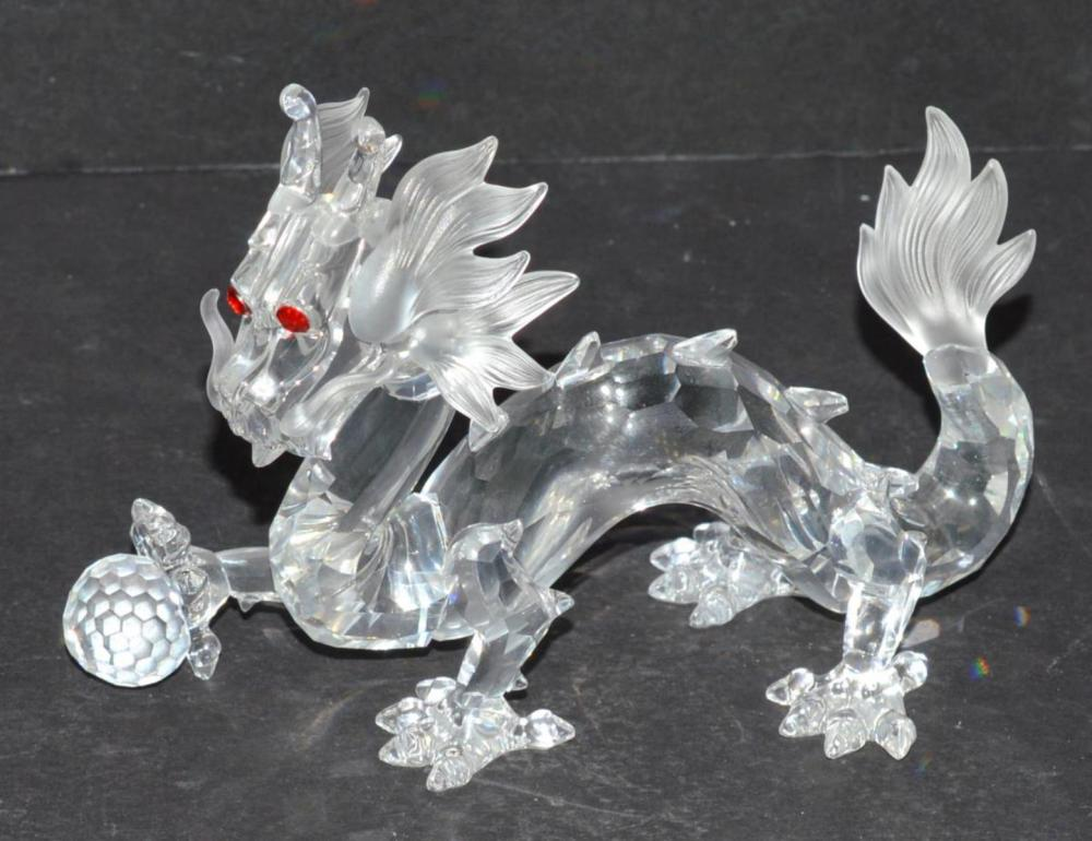 "Swarovski 1997 Lead Crystal ""The Dragon"" in Box"