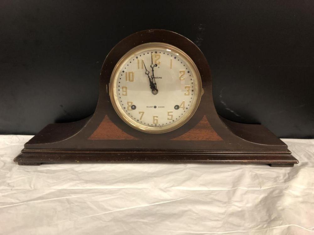 Vintage Wood Mantle Clock Sessions Clock Co.