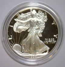 Lot 96Y: 1994 Silver American Proof Eagle with Box & COA