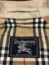 Lot 100A: Mens Burberrys' Trench Coat Cotton Poly Size 50
