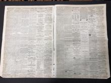 Lot 125X: 1861 Stockton Daily Indep. Civil War Era Newspaper