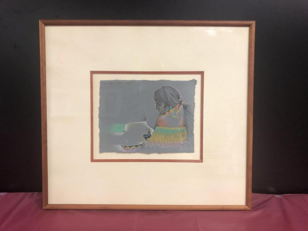 Lot 160: Amado Pena Original Signed Watercolor & Pencil