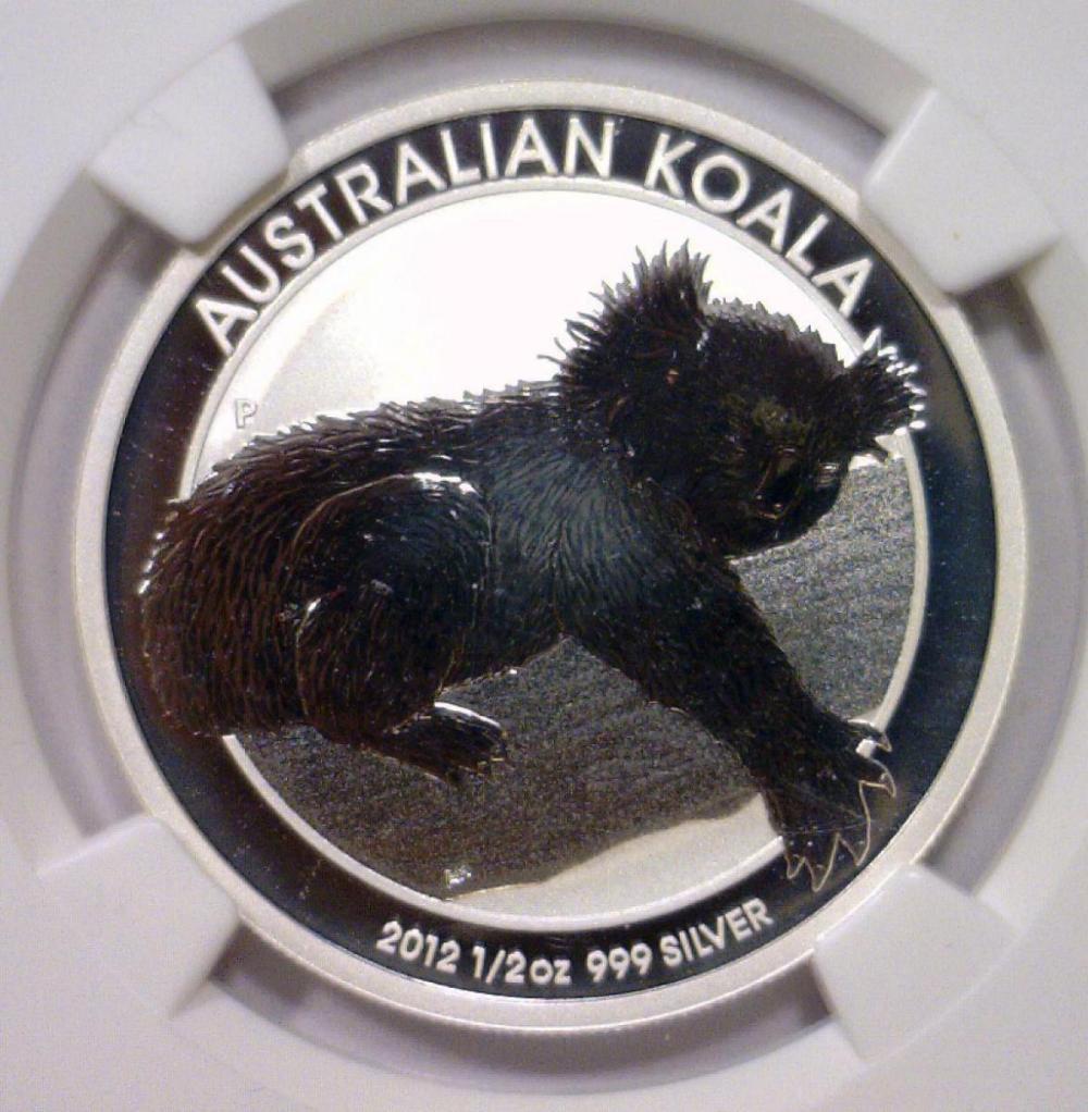 Lot 167: 2012 Silver Koala 50 Cent Australia NGC MS70