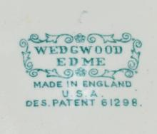"Lot 168X: Vintage Wedgwood Footed Bowl ""Edme"" Pattern"