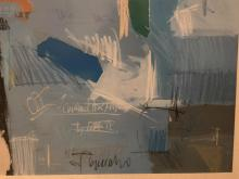 Lot 170: Large Framed Colorful Modern Abstract Lithograph