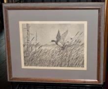 Lot 190: Framed Under Glass Freeman H Beard Print Touching