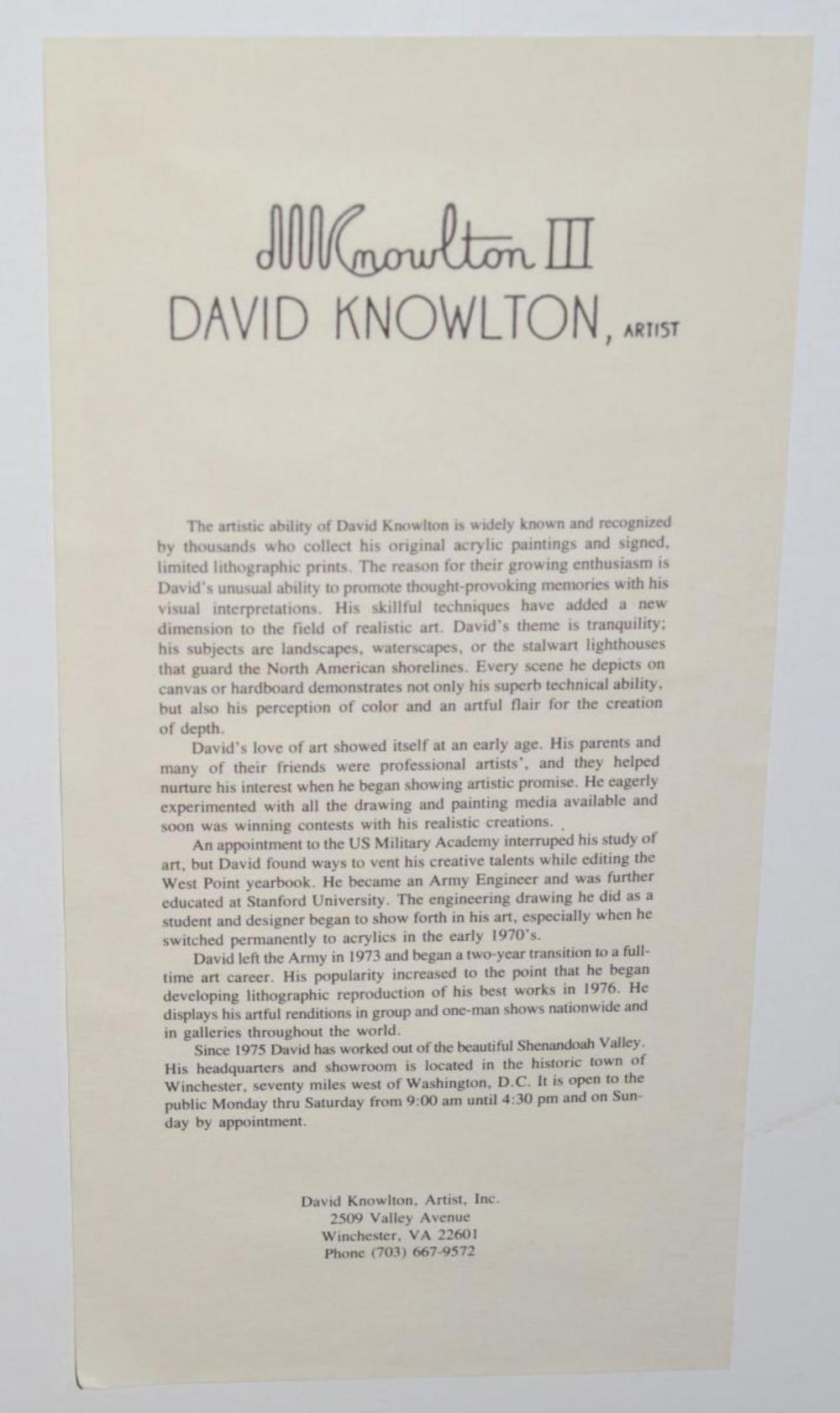 Lot 200: Pair of David Knowlton Framed Numbered Prints