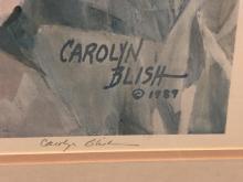Lot 210: Carolyn Blish Tulip Tracery S&N LE Framed Print