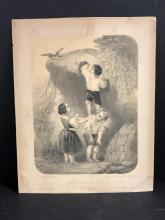 Lot 240: Vintage Etching Das Geraubte Nest The Robed Nest