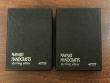 Lot 297X: Navajo Handcrafted Buffalo Nickel Sterling Jewelry