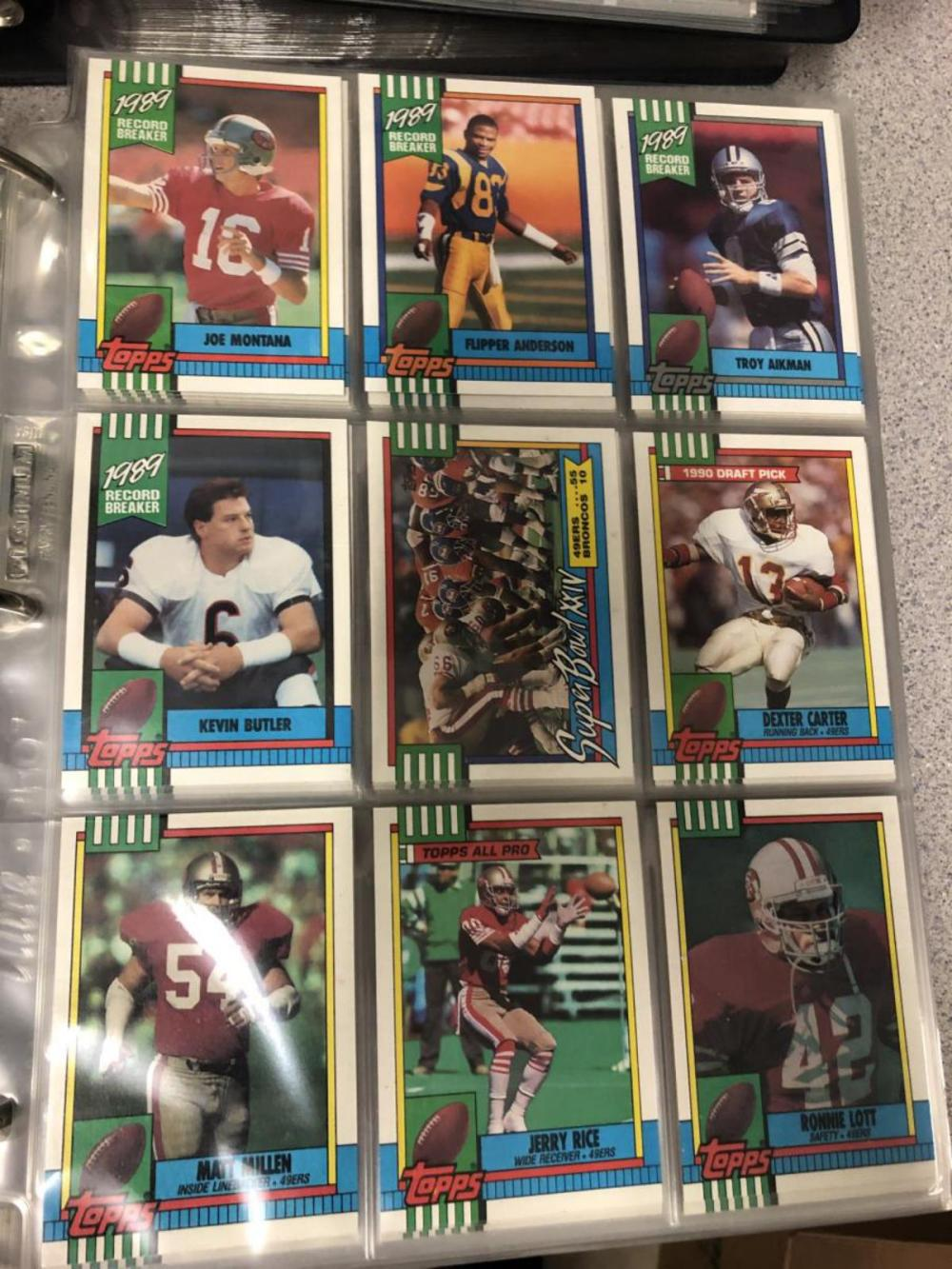 Lot 296: 10 Albums 100s Football Cards 1989-92 Topps Upper