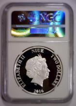 Lot 329X: 2016 Silver Proof $2 Niue HANS SOLO NGC PF70 UC