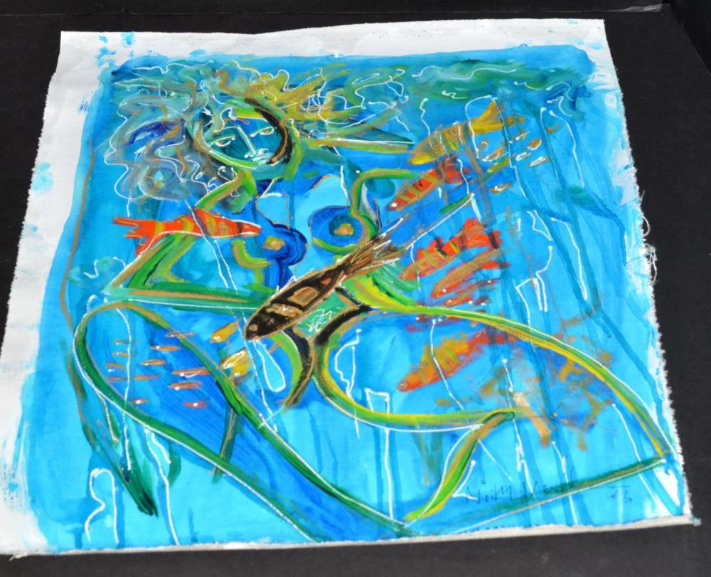 Neith Nevelson Orig Oil on Canvas Signed Painting