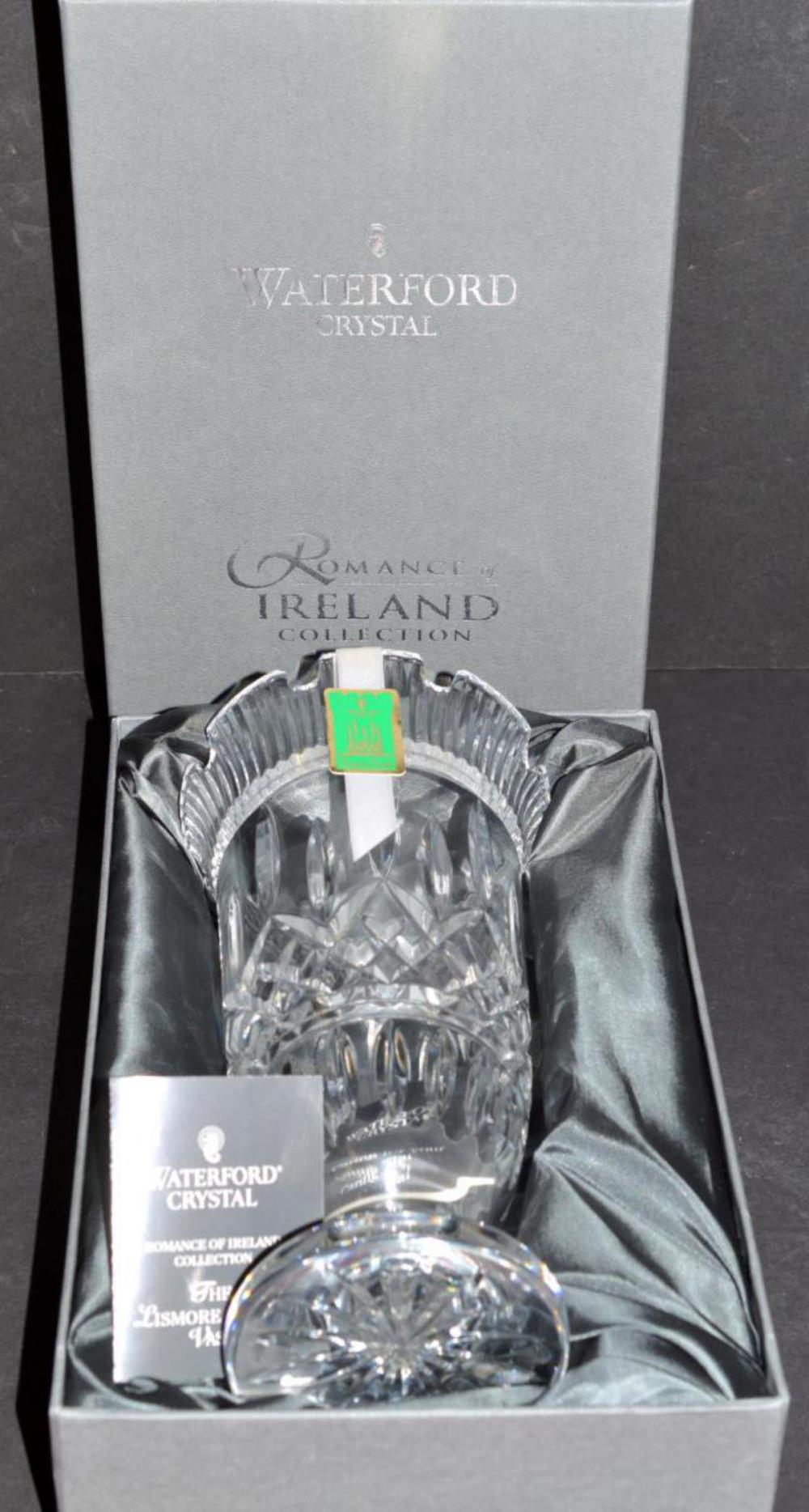 Waterford Crystal Vase in Box the Lismore Castle