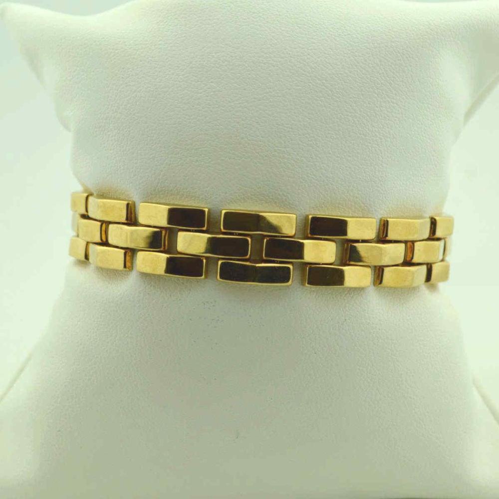 14kt yellow gold fancy link bracelet