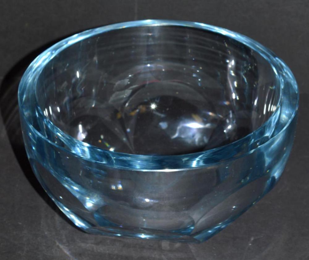 Strombergshyttan Swedish Blue Glass Bowl T477
