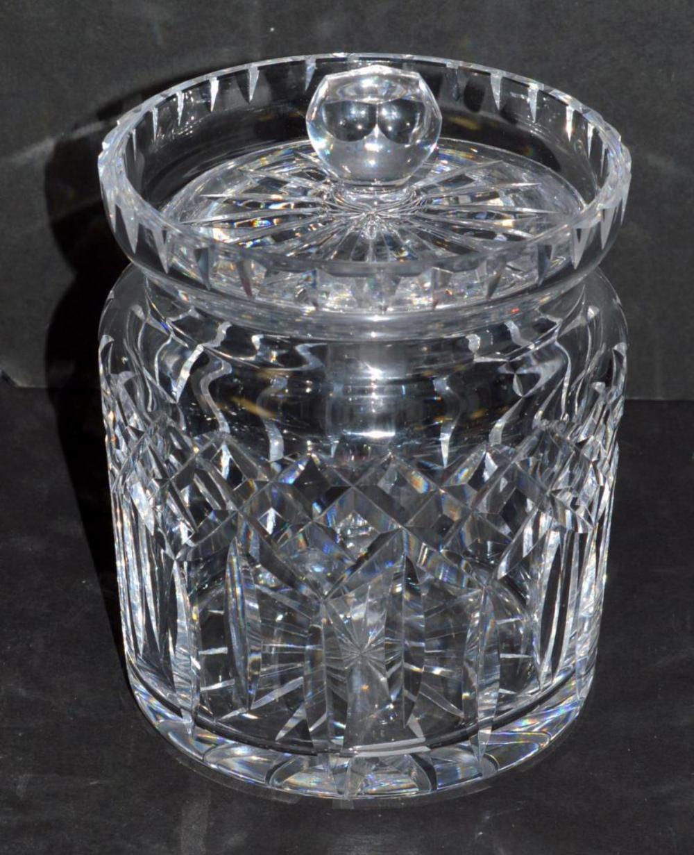 Waterford Lismore Cut Crystal Lidded Biscuit Jar