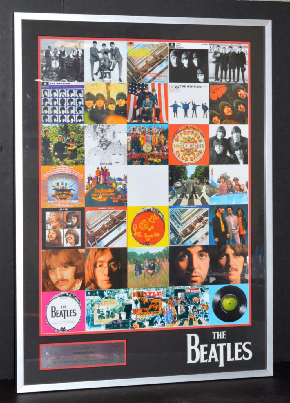 The Beatles Through The Years Album Covers Montage