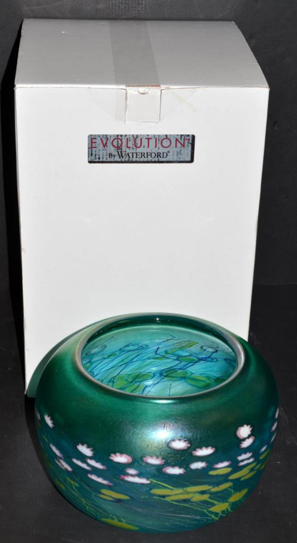 """Evolution by Waterford Waterlily 9"""" Bowl in Box"""