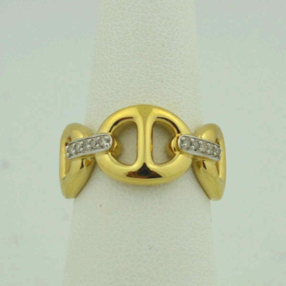 14kt yellow gold gucci link fashion ring