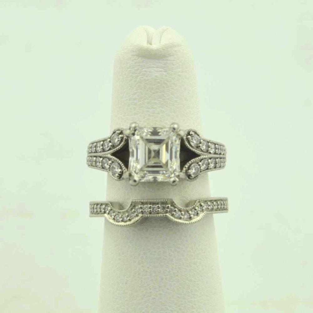 Platinum Diamond Wedding Set, 2.27ct G/ VS2 GIA