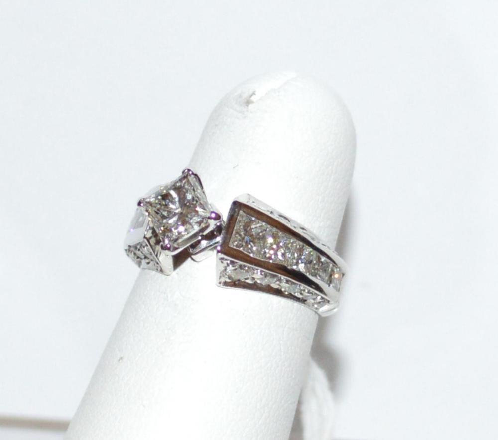 18kwg Princess Diamond Ring 1.02ct