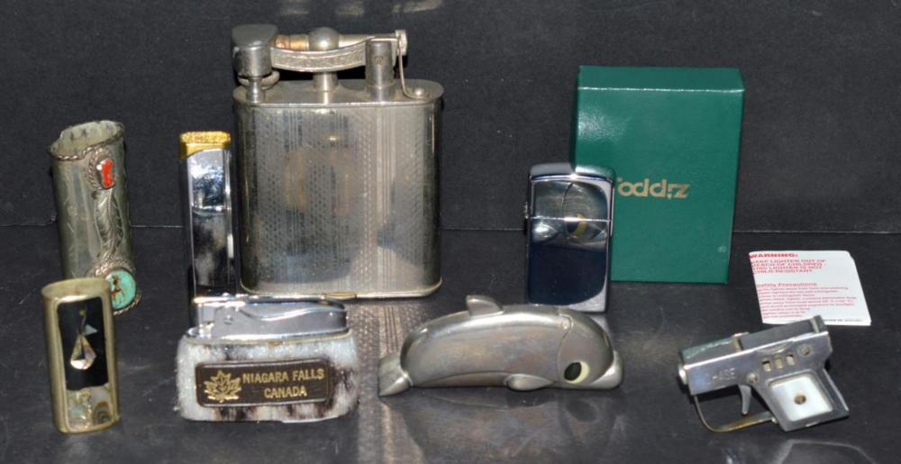 Group of Various Lighters & Holders Zippo, & More