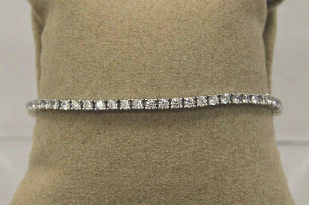 Ladies Sterling Silver Tennis Bracelet