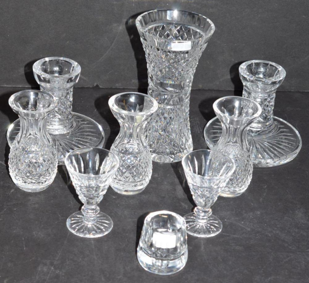 Lot of 9 Waterford Cut Clear Crystal Items