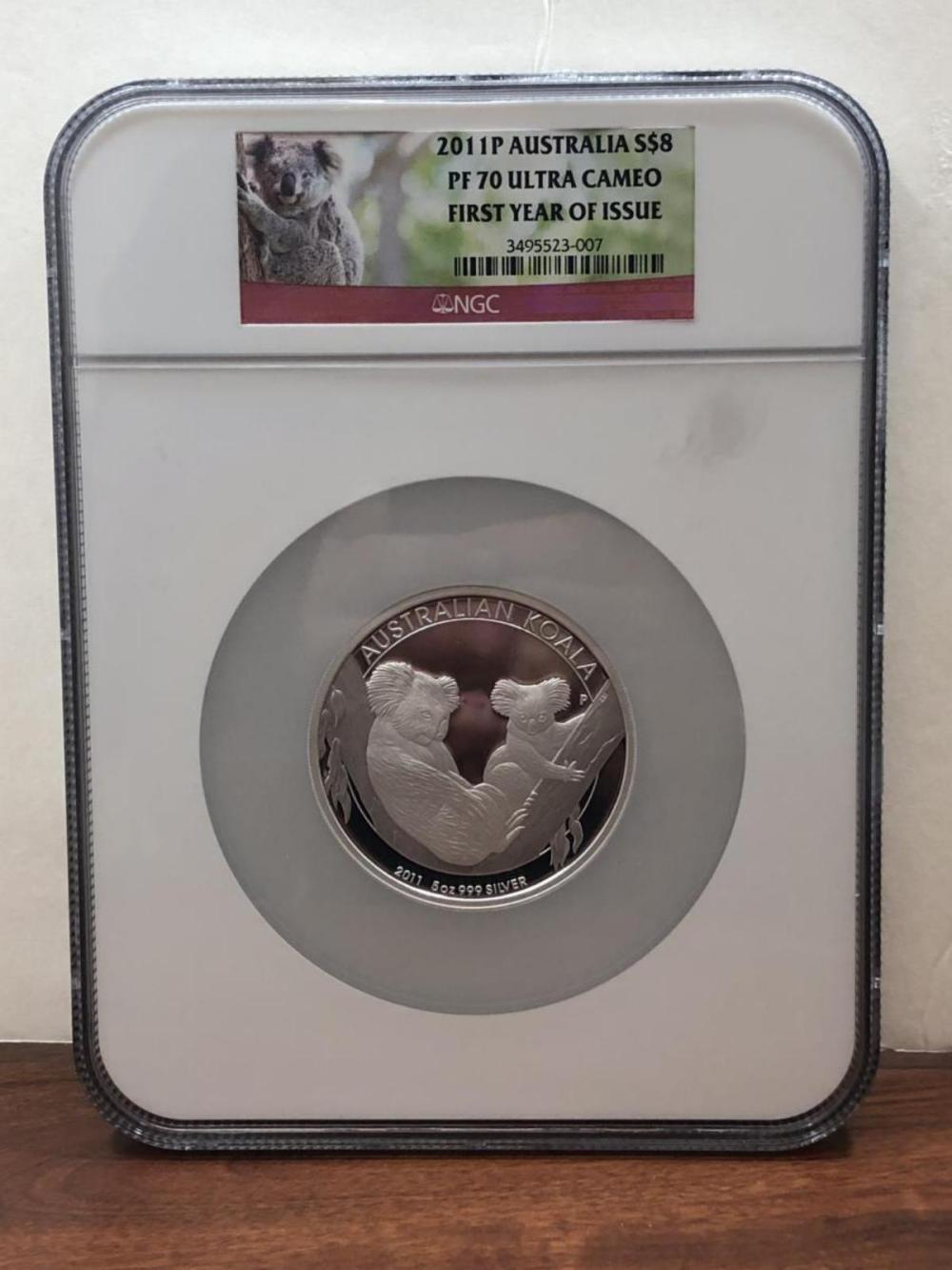 2011 $8 Silver Proof Koala Australia NGC PF70