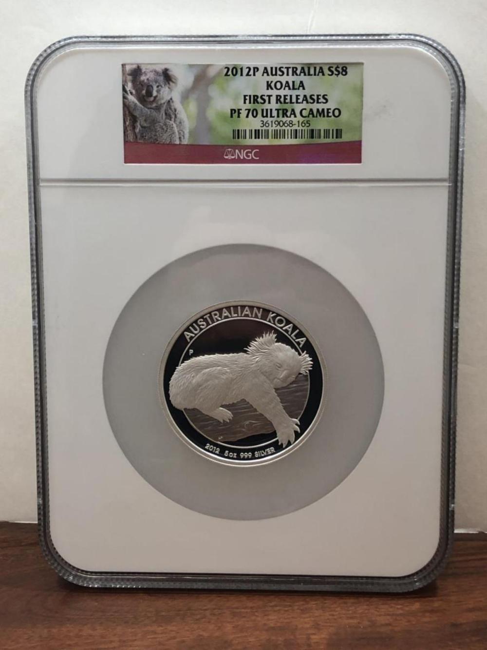 2012 $8 Silver Proof Koala Australia NGC PF70