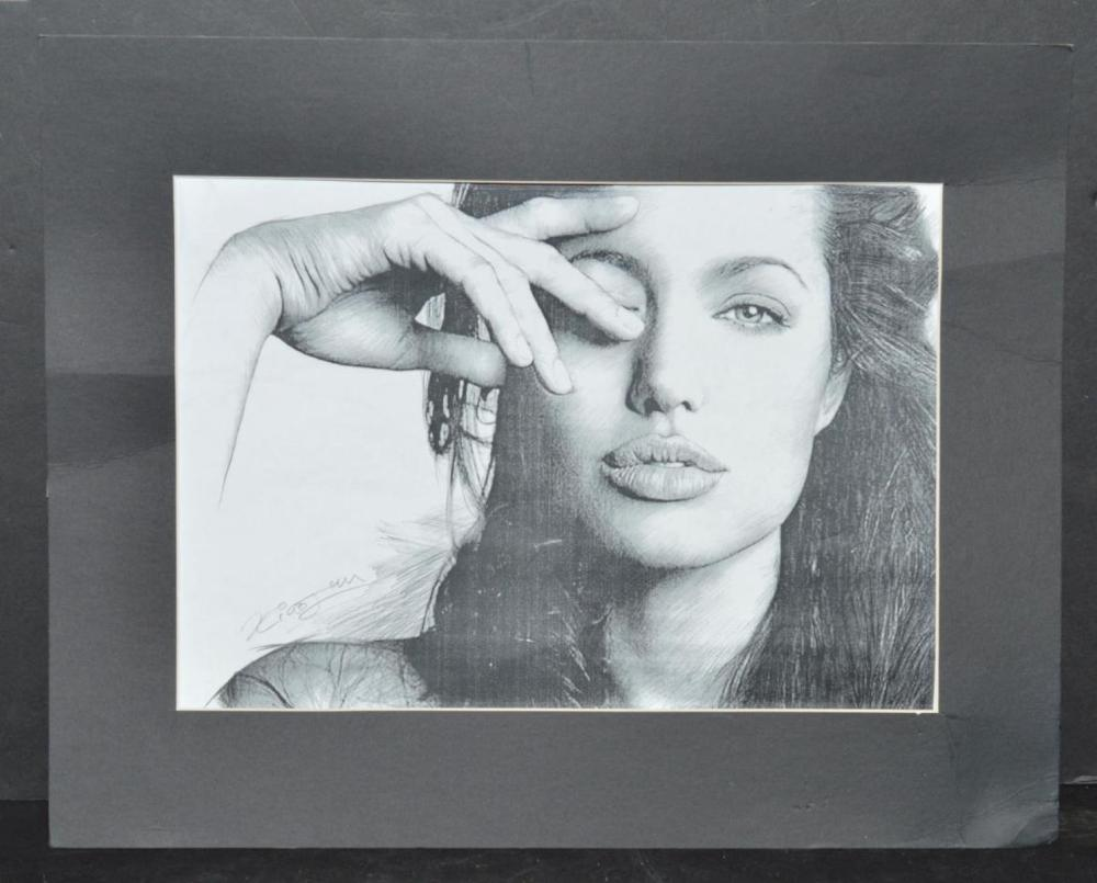 Pencil Sketch/Drawing of Angelina Jolie by Xiao Un