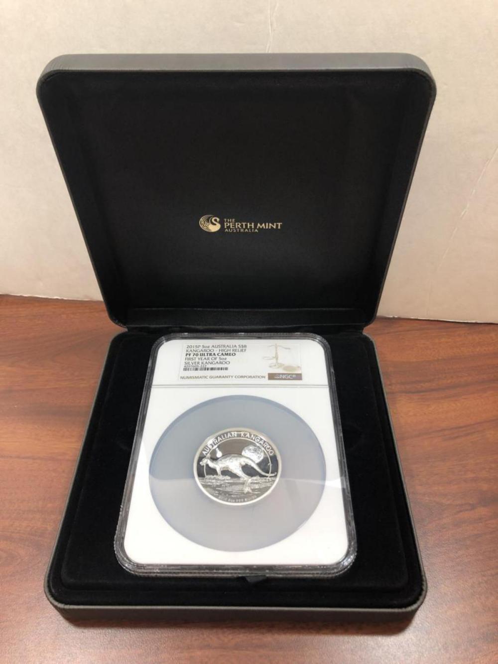 2015 $8 Silver Proof Kangaroo Australia NGC PF70