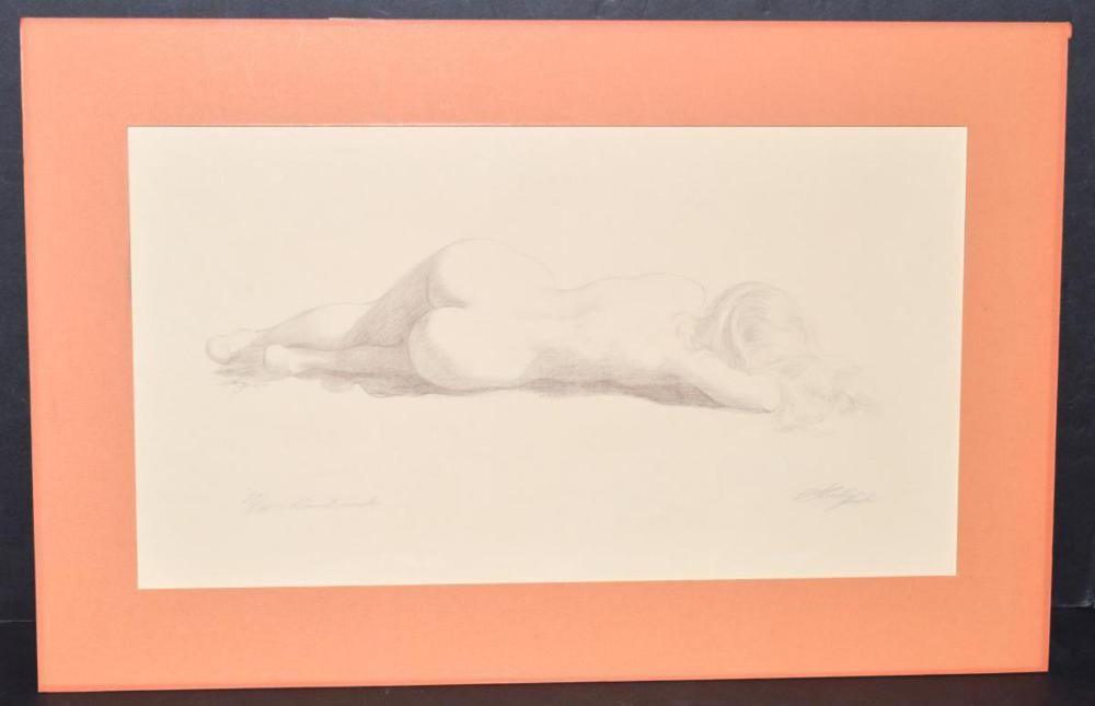 """""""Round Nude"""" Etching by Sheldon (Shelley) Fink"""