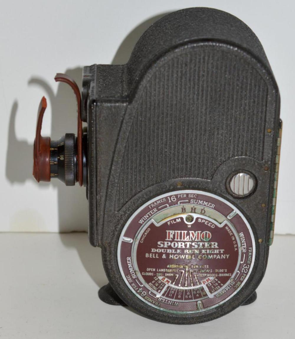 Vintage Bell & Howell Filmo Sportster Camera 8mm