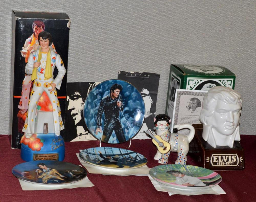 Lot of Elvis Presley Collectibles The King of Rock