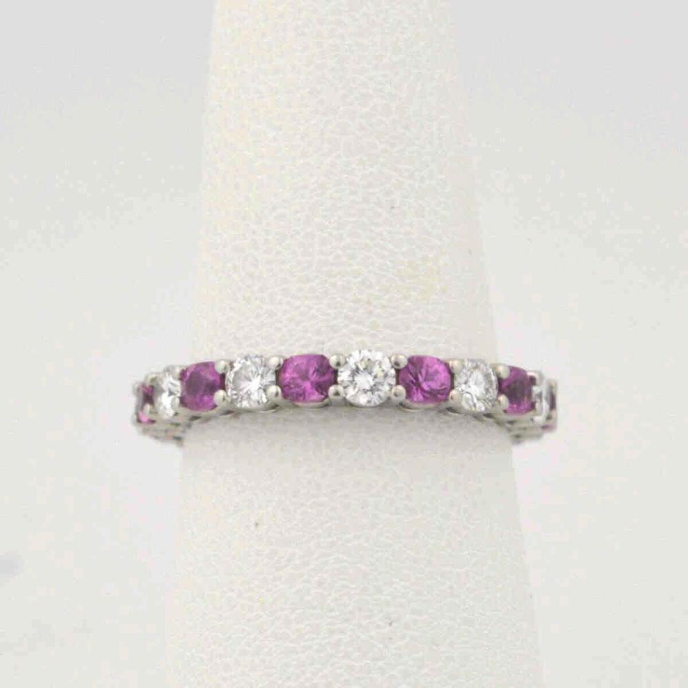 Tiffany &Co Pink sapphire and diamond band