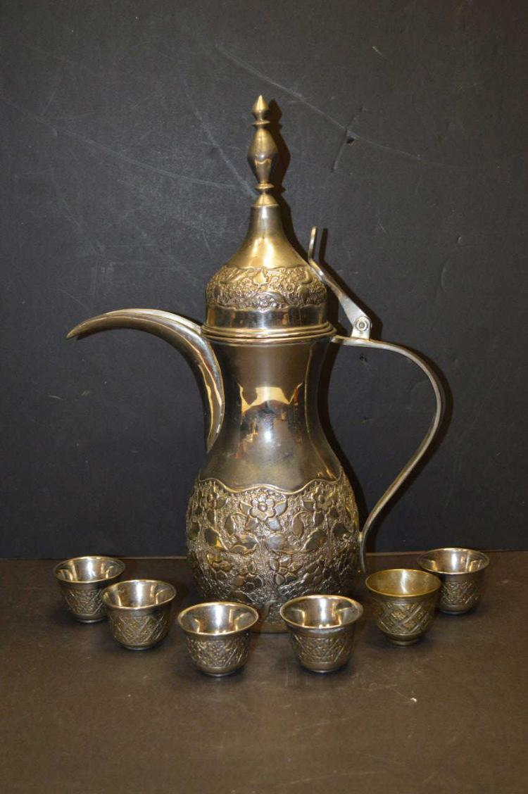 Vintage Arabic Turkish Middle Eastern Dallah Pot