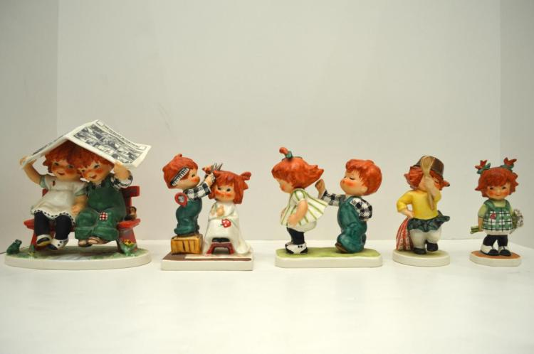 Five Goebel Redheads
