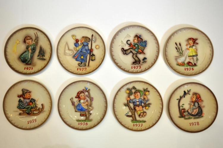 Eight Hummel Collector Plates