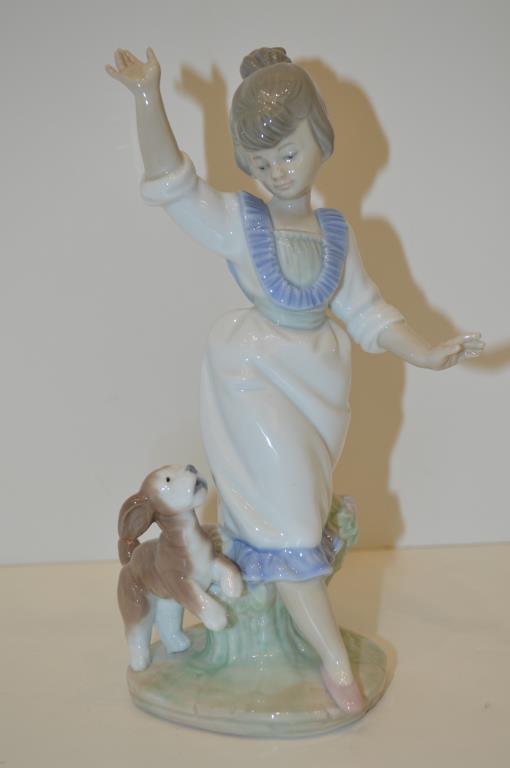 Lladro Figure, Wednesday's Child (Girl)