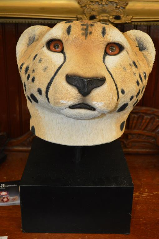 Pottery Bust Of A Cheetah