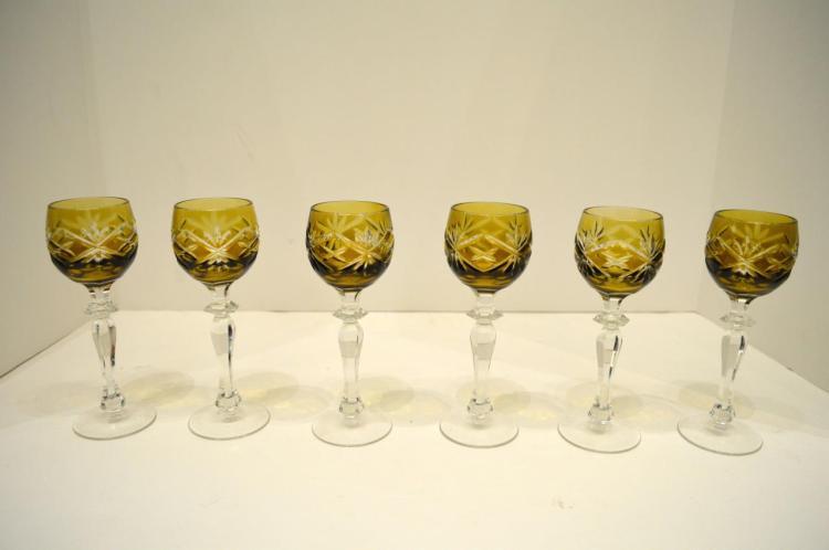 Six Stemware Cordials