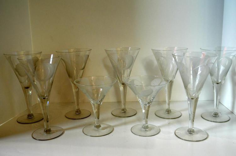 Nine Pieces Of Stemware