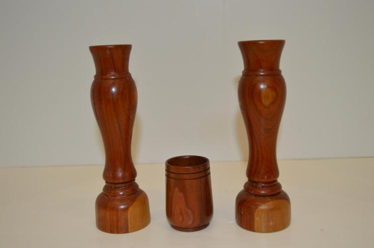 Pair Of Candlesticks And Toothpick By Ralph Terry