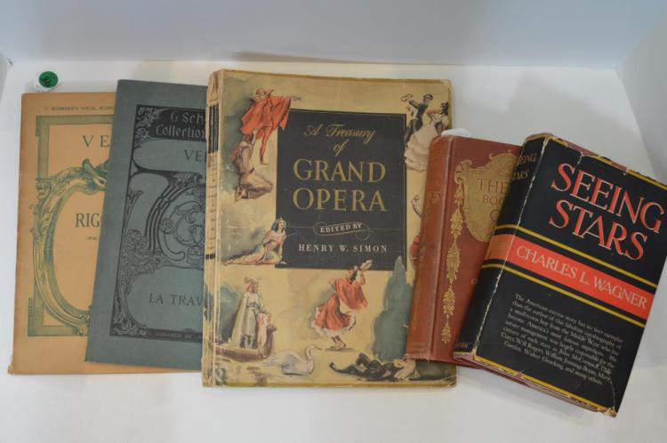 Five Books Pertaining To Opera