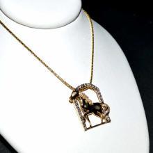 14kyg Diamond Horse Pendant By LeVian