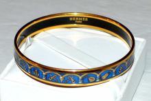 Hermes Paris Cloisonne Bangle Bracelet