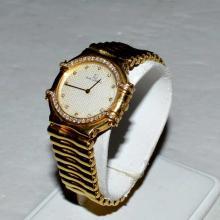 Lady's 18kyg Jean LaSalle Diamond Watch