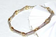 14ky 2Tone Diamond Bracelet 2ctw